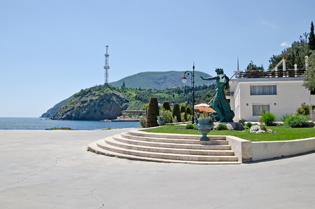 embankment: Beautiful nature landscape: Embankment in Partenit, Crimea Editorial