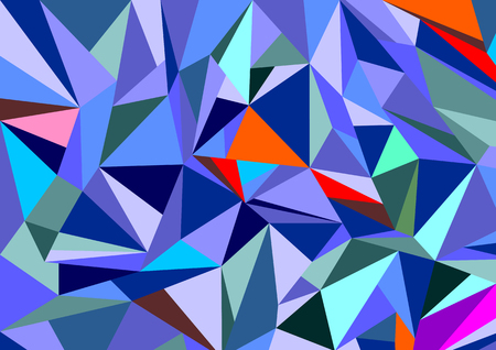 refraction: Abstract diamond background in vector - the refraction of multi-colored faces Illustration