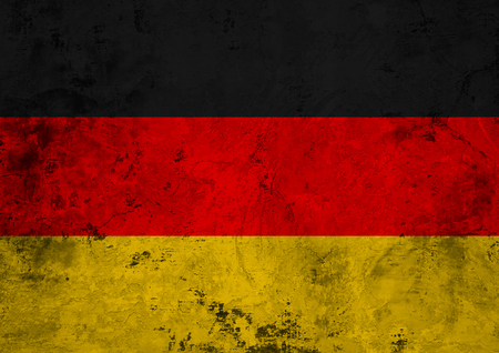 Flag of the Germany against the background of the stone texture Stock Photo
