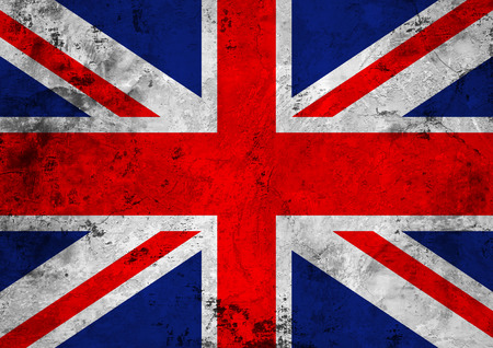 Flag of the Great Britain against the background of the stone texture