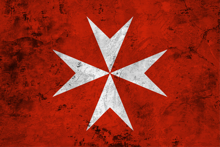 Flag of the Malta against the background of the stone texture Stok Fotoğraf