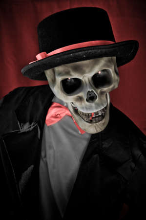 Skeleton in suite portrait photo