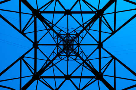High power line pattern, viewed at the bottom side