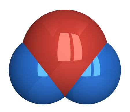 hidrogeno: Mol�cula de agua. Ox�geno - rojo, el hidr�geno - azul