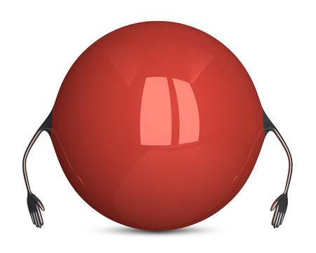 holgaz�n: Car�cter Esfera roja, pose inactivo