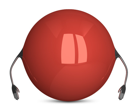 idle: Red sphere character, idle pose