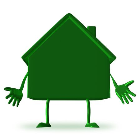 discouraged: Discouraged green cottage character isolated