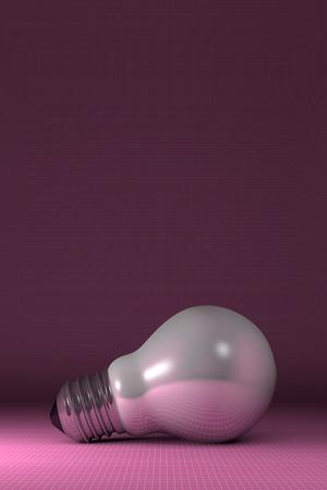arbitrary: Blanco Arbitraria brillante bombilla se extiende sobre fondo cuadrado rosado