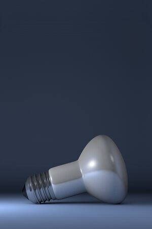 krypton: Krypton white glossy light bulb lying on blue squared background Stock Photo