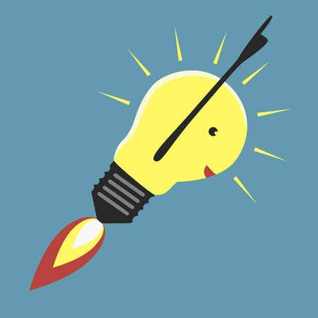 reactive: Jet-propelled light bulb in moment of insight