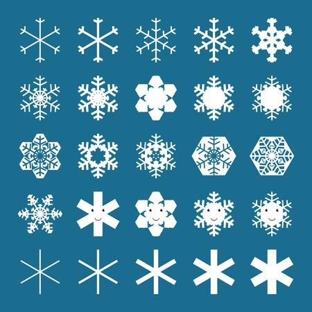 schneeflocke: Schneeflocken und Schneeflocken Zeichen Sammlung. EPS 10 Vektor-Illustration, keine Transparenz