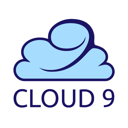 Cloud 9-logosjabloon. EPS-10 vectorillustratie, geen transparantie