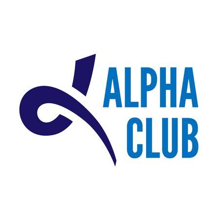 alpha: Blue alpha letter