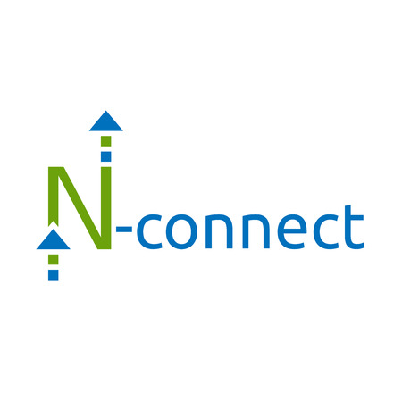 communication concept: Stylized letter N   template. Connection, communication, web, technology, internet concept.