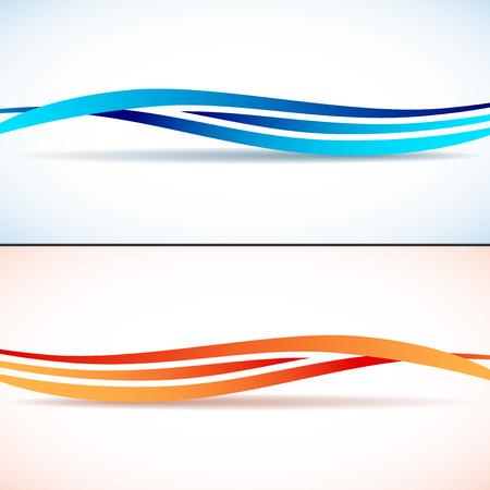 lineas decorativas: Fondos abstractos con olas Vectores
