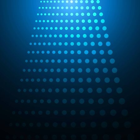 electronical: Geometrical background with glowing circles on blue. EPS 10 vector illustration, transparency and gradients used