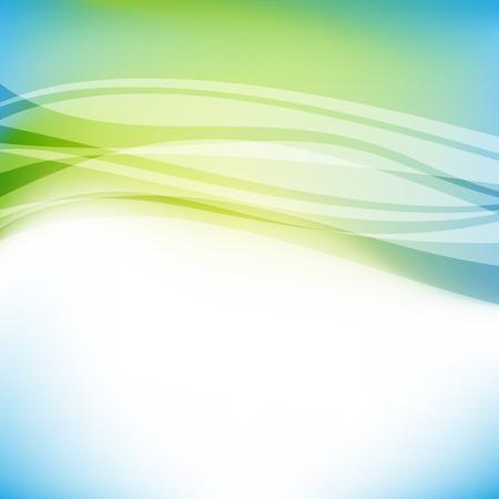 抽象的なカラフルな青と緑の背景。ベクトル図、透明度とグラデーションの使用