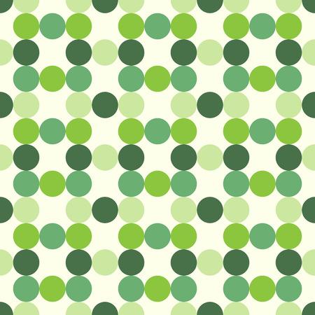 다양한 색조, 음영 및 녹색 원활한 패턴의 색조의 원. EPS 8 벡터 일러스트 레이 션, 투명도