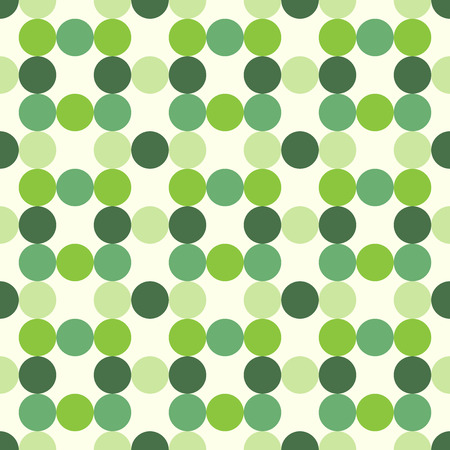Circles of various tones, shades and tints of green, seamless pattern. EPS 8 vector illustration, no transparency