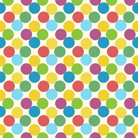 yellowish: Multicolor circles seamless pattern. EPS 8 vector illustration, no transparency