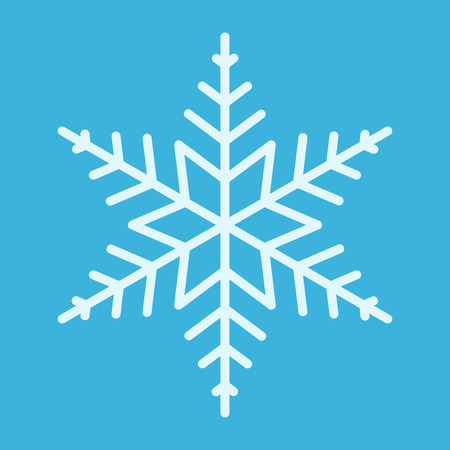 bluish: Beautiful bluish snowflake of regular shape with six points on blue background.   vector illustration, no transparency