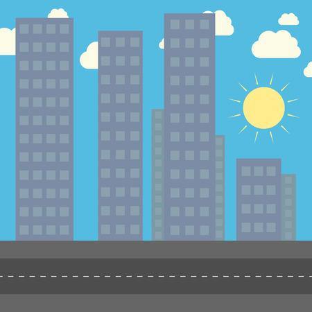 city background: City background. Illustration