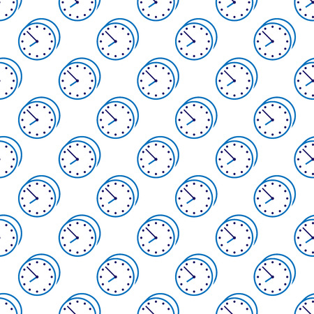 urgency: Stylish beautiful blue clock seamless pattern. Time, watch, schedule, business, management, plan, work and urgency concept. Illustration