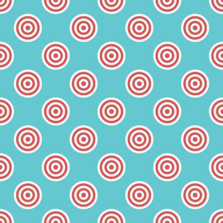 targets: Targets seamless pattern on blue background. Repeat tiles. Illustration