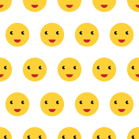 repeatable texture: Bright yellow smiling faces seamless pattern. Happy characters. Cheerful joyful repeatable texture for textile or wrapping.