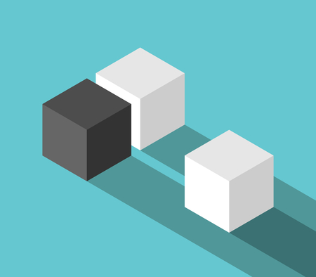 Isometric couple of cubes and odd one vector