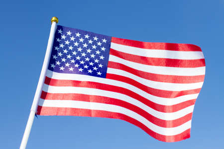USA flag waving. American flag. Celebrating Independence Day of America.