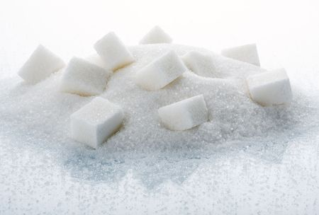 The big heap of sugar cubes Stock Photo - 3636106