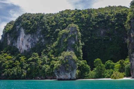 hong: The Trees covered Cliffs. Koh Hong Island at Phang Nga Bay near Krabi and Phuket. Thailand. Stock Photo