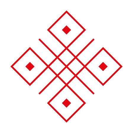 Early slavic symbols. Famaly amulet. White background. Illustration