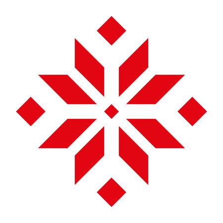 Frühe slawische Symbole. Feuer Amulett. Weißer Hintergrund.