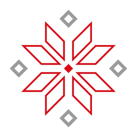Early slavic symbols. Spiritual culture amulet. White background.