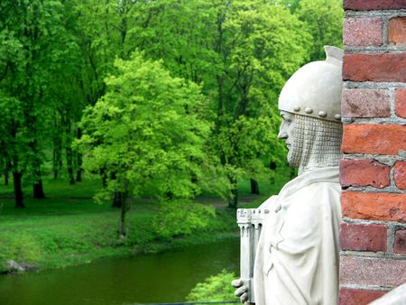 Medieval Knight. Kenigsberg sculpture photo