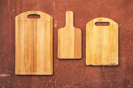 cutting boards: empty vintage cutting boards, wood texture, frames