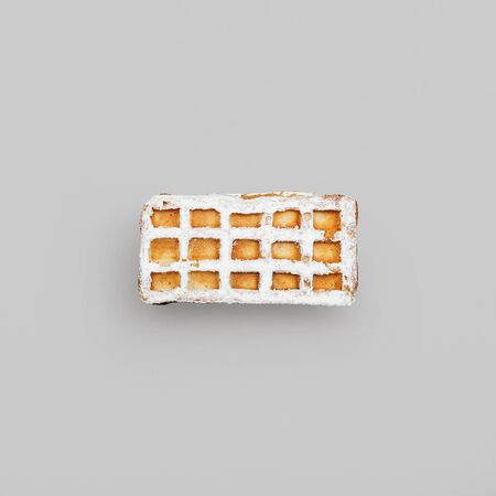 viennese: Viennese waffles on a gray . view from above
