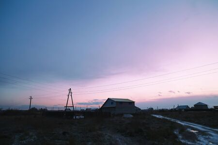 rural countryside: Beautiful sunrise in rural countryside. sweet home