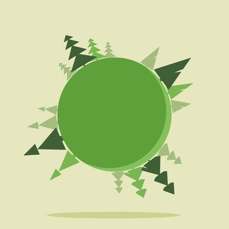 before: Planet Earth with trees before Christmas. Minimalism style