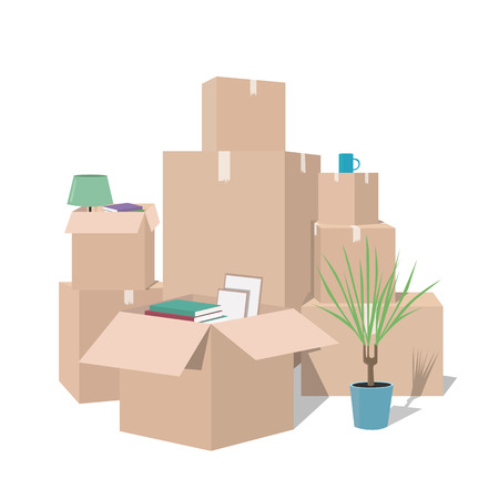 Moving with boxes