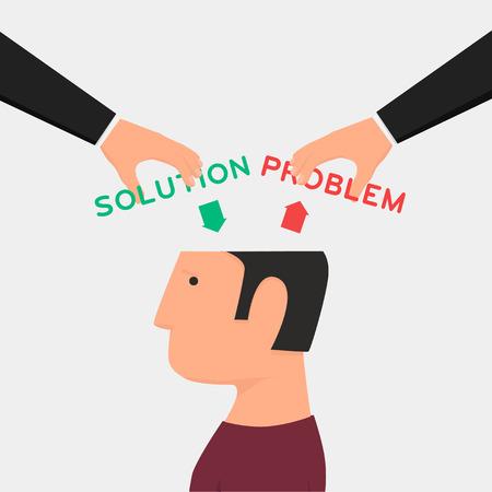 d�livrance: Man Confused. Mal de t�te. R�flexion sur les probl�mes. Rechercher des ennuis Illustration