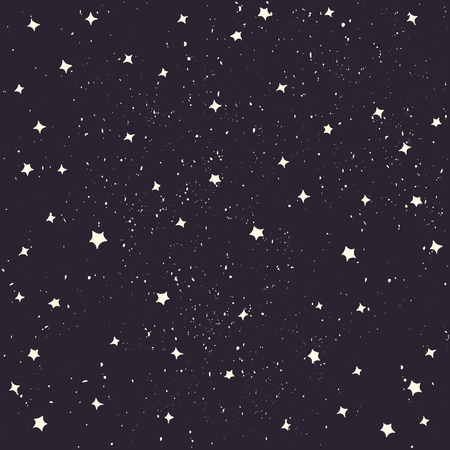 Espacio con las estrellas del vector. estilo de dibujos animados. El espacio de fondo Ilustración de vector
