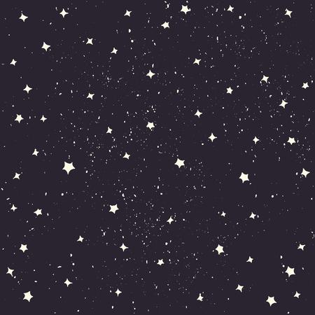 Spazio con stelle vettore. stile cartone animato. sfondo spazio Vettoriali