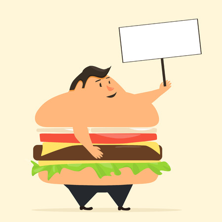 too many: Burgerman. People who eat too many burgers. Fatboy