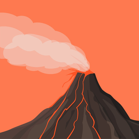 Dangerous phenomenon. A natural phenomenon. Volcano eruption