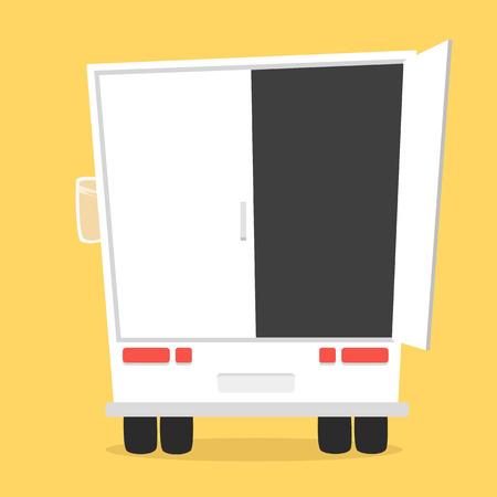 Pequeño Camión Para Transporte De Carga. Vector De Estilo De ...