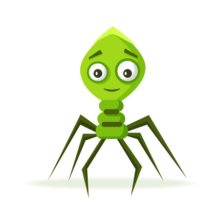bacteria cartoon: Bacteria character. Cartoon vector illustration. Microbiology. Isolated background. Funny monster Angry viruse