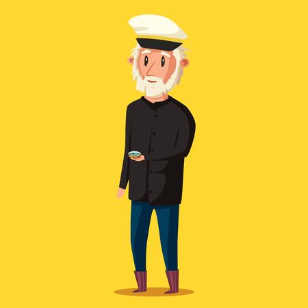 Sailor man character. Vector Illustration